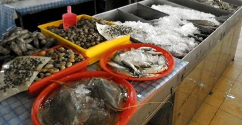 antara makanan laut yg baru & segar